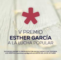 ACPT retoma el Premio Esther García a la Lucha Popular y abre el plazo de candidaturas