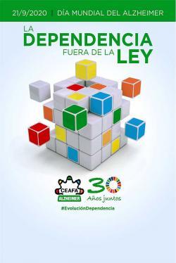 Cartel conmemorativo del Día Mundial del Alzheimer el día 21 para sensibilizar a la población