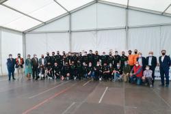 Recibimiento de la Corporación al BM Torrelavega por su histórico ascenso a Liga ASOBAL