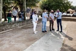 Vicepresidencia invierte cerca de 30.000 euros en la rehabilitación integral de la bolera de Barcenaciones, en Reocín
