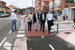 Inaugurado el nuevo carril bici de Puente San Miguel
