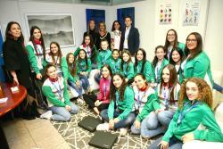 Recepción a las medallistas en el Campeonato de España de Gimnasia Rítmica