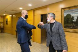 La Lechera y el nuevo módulo de atletismo en el Oscar Freire, temas de la reunión entre Zuloaga y López Estrada
